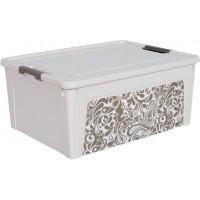 "Контейнер Алеана ""Smart Box"" 7.9л с декором Home, б.роза/какао (124056)"