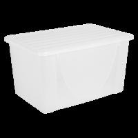 Контейнер для хранения вещей Алеана 40л, прозрачный (122044)