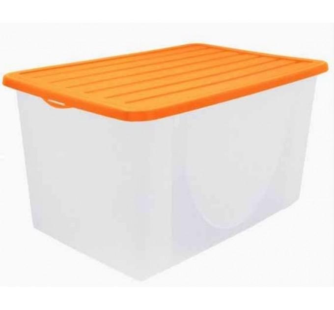 Контейнер для хранения вещей Алеана 40л, светло-оранжевый (122044)