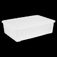 Контейнер для хранения вещей Алеана 22л, прозрачный (122042)