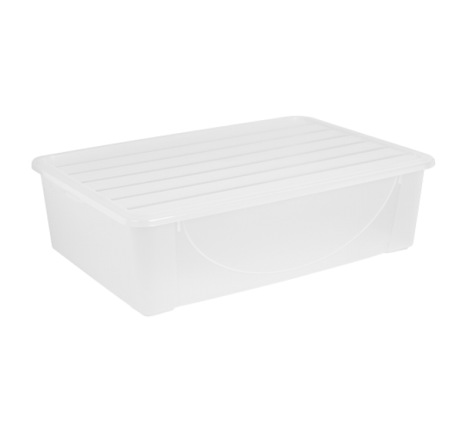 Контейнер для хранения вещей Алеана 22л, прозрачный (122042) - фото № 1