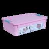 """Контейнер Алеана """"Smart Box"""" 14л с декором Pet Shop, розовый/бирюзовый (124047)"""