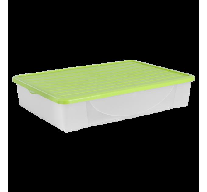 Контейнер для хранения вещей Алеана 45л, оливковый (122045)