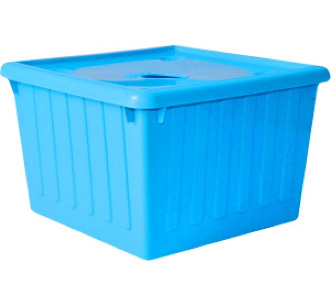Контейнер для хранения вещей Алеана 25л, голубой (122043)