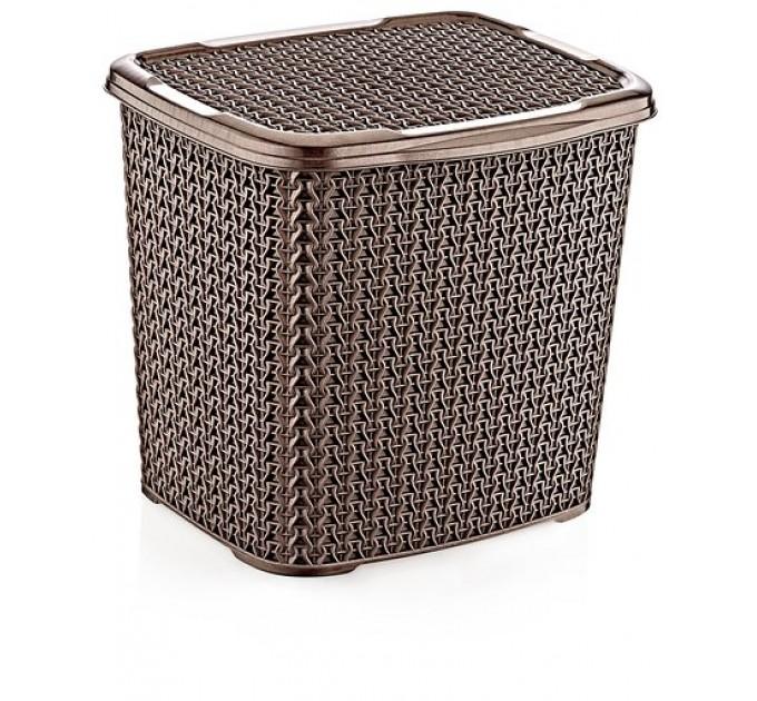 Контейнер для стирального порошка OZ-ER PLastik KNIT 6.2л, коричневый (O004-X23) - фото № 1