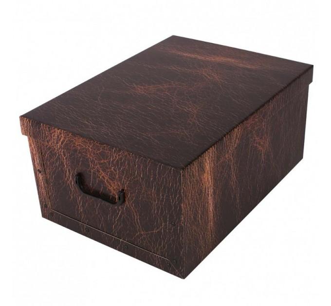 Короб для хранения вещей Miss Space Maxi 51*37*24см, Leather Brown (7073)