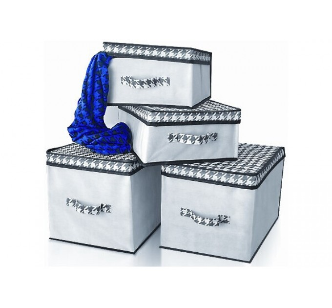 Короб для хранения вещей Тарлев 30*30*16см, Black and White (2226bw)