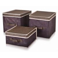 Короб для хранения вещей Тарлев 30*30*16см, Brown (4601)