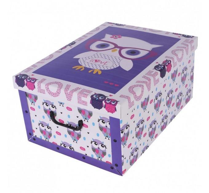Короб для хранения вещей Miss Space Maxi 51*37*24см, Cute Owls (7065) - фото № 1