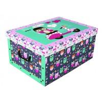 Короб для хранения вещей Miss Space Maxi 51*37*24см, Daredevil Owls (7066)