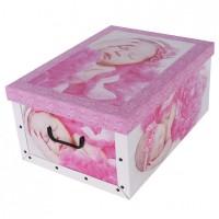 Короб для хранения вещей Miss Space Maxi 51*37*24см, Babies Sleep pink (7041)