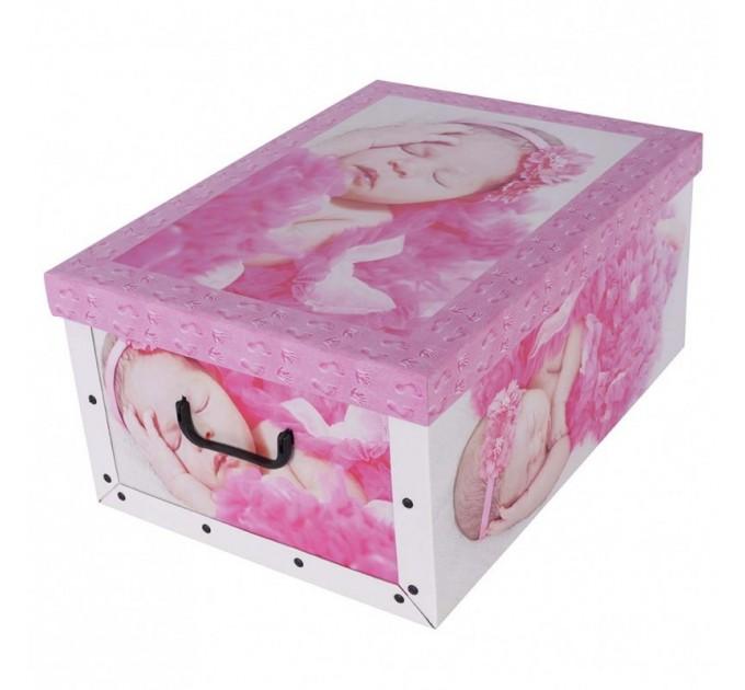 Короб для хранения вещей Miss Space Maxi 51*37*24см, Babies Sleep pink (7041) - фото № 1