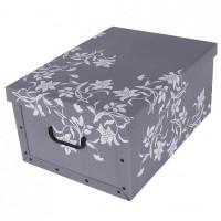 Короб для хранения вещей Miss Space Maxi 51*37*24см, Fiori Barocchi Grig (7004)
