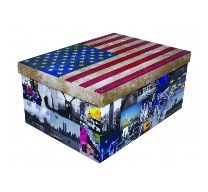 Короб для хранения вещей Miss Space Maxi 51*37*24см, Flags America (7047)