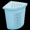 Корзина для белья угловая Алеана 45л, голубой ледяной (122051)