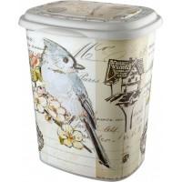 Корзина для белья Elif Принт 53л, 38х45х53см, птица (339-18)