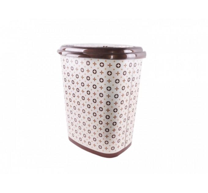 Корзина для белья Elif Принт 53л, 38х45х53см, луи виттон (339) - фото № 1