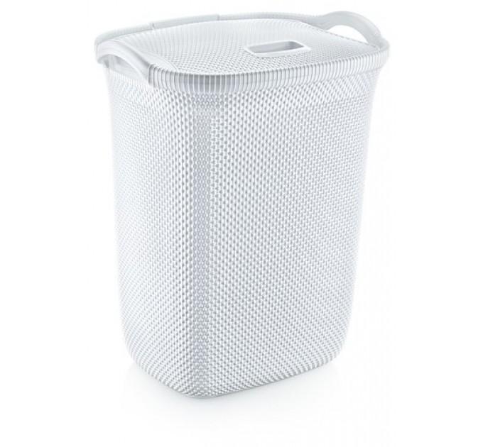 Корзина для белья OZ-ER PLastik HONEYCOMB 63л, белый (N008-X24) - фото № 1