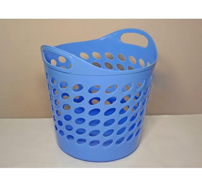 Корзина универсальная ММ-Пласт 20л, голубой (bas20/blue) - фото № 1
