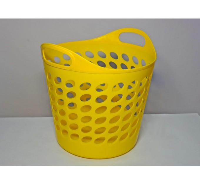 Корзина универсальная ММ-Пласт 20л, желтый (bas20/yellow) - фото № 1