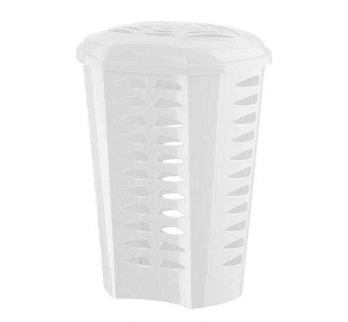 Корзина для белья Ramacciotti Plast GASTONE 60л, белый (132/white) - фото № 1