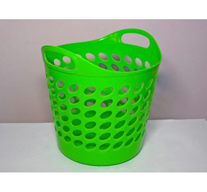 Корзина универсальная ММ-Пласт 20л, салатовый (bas20/b.green) - фото № 1