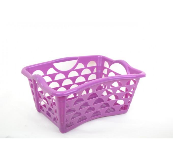 Корзина Ramacciotti Plast STYLUS прямоугольная 25л, S, фиолетовый (1239/purple)