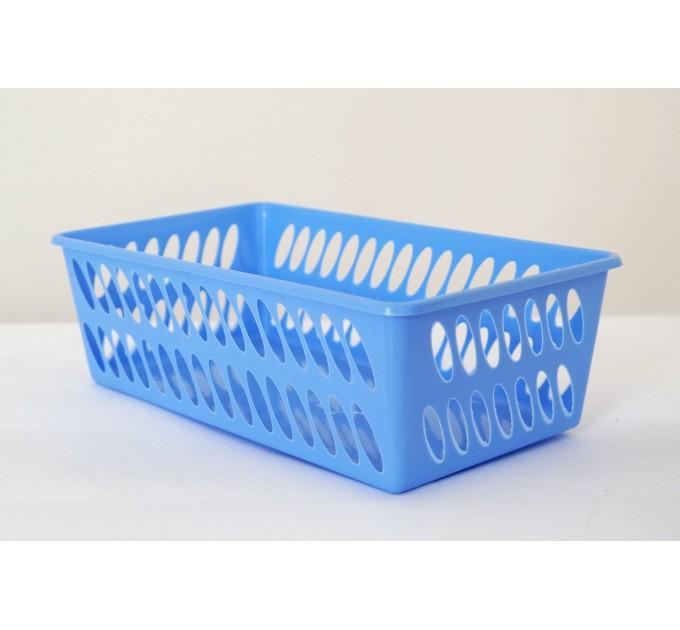 Корзина ММ-Пласт 150*250*80мм, голубой (BoxMM2/blue) - фото № 1