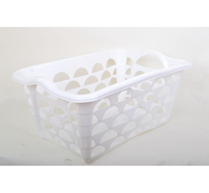 Корзина Ramacciotti Plast STYLUS прямоугольная 40л, M, белый (1216/white)