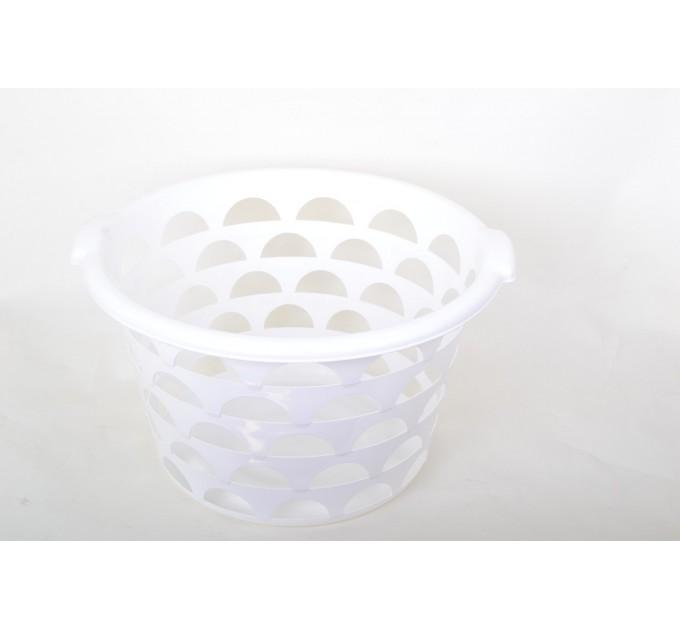Корзина Ramacciotti Plast COOKIE круглая 23л, белый (1335/white) - фото № 1