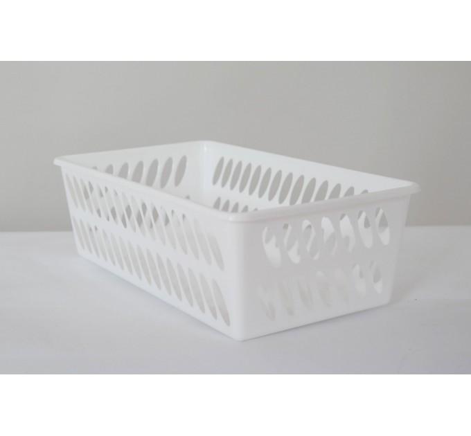 Корзина ММ-Пласт 100*200*50мм, белый (BoxMM1/white) - фото № 1
