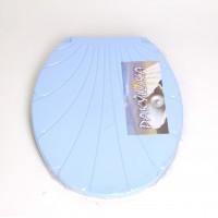 "Крышка для унитаза Chaoya ""Ракушка"", голубой (KR-блак)"