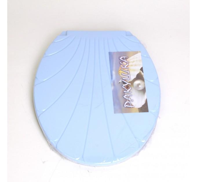 "Крышка для унитаза Chaoya ""Ракушка"", голубой (KR-блак) - фото № 1"