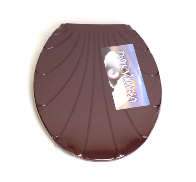 "Крышка для унитаза Chaoya ""Ракушка"", коричневый (KR-кор)"