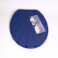 """Крышка для унитаза Chaoya """"Ракушка"""", синий (KR-Т.синий)"""