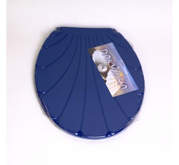 """Крышка для унитаза Chaoya """"Ракушка"""", синий (KR-Т.синий) - фото № 1"""