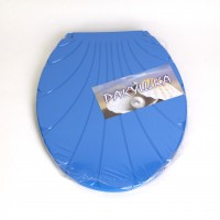 "Крышка для унитаза Chaoya ""Ракушка"", темно-голубой (KR-т.блак)"