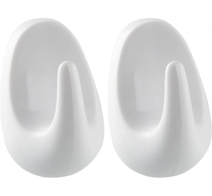 Крючки Fackelmann на клейкой основе, овальные 4.5 см 2 шт, пластик (20701) - фото № 1
