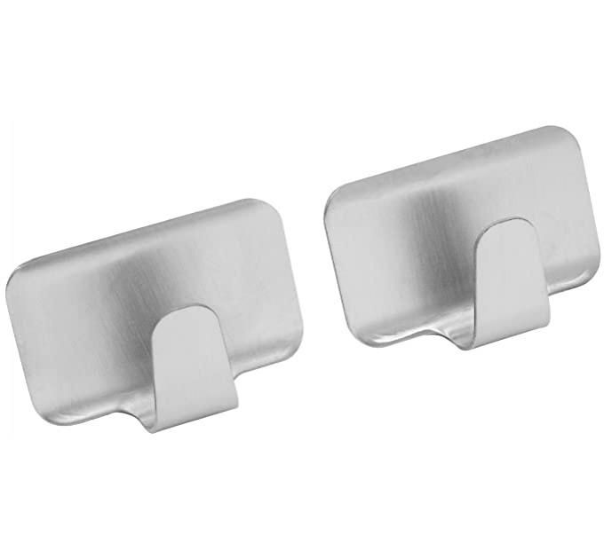 Крючки Fackelmann на клейкой основе, прямоугольные 4 см, 2 шт, сталь (61281) - фото № 1
