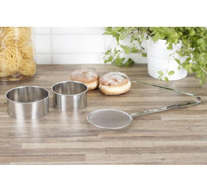 Шумовка-щипцы для пончиков Fackelmann 2 формы D8, D9.5 см для вырезания пончиков, сталь (684752) - фото № 2