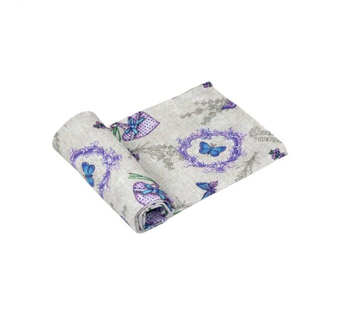 """Полотенце вафельное РУНО 35х70 """"Lavender"""" - фото № 1"""