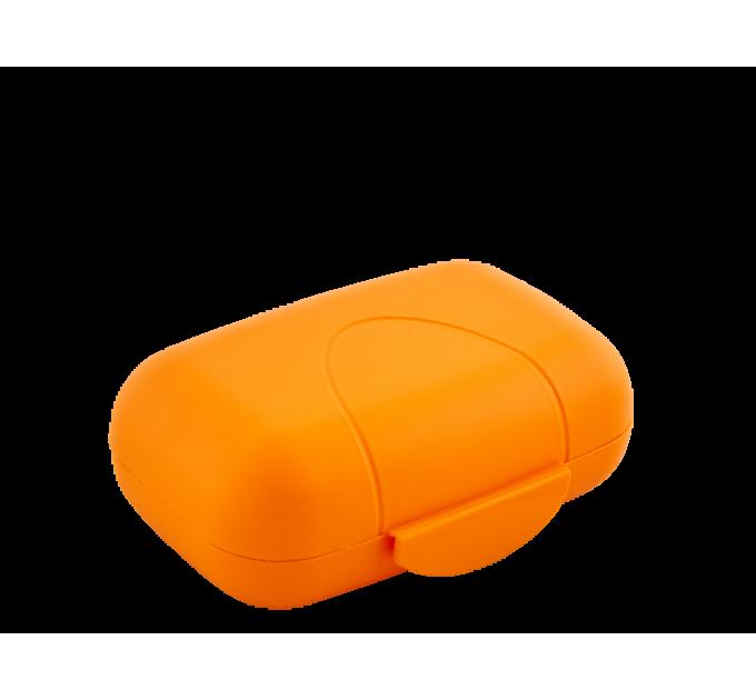 Мыльница дорожная Алеана, светло-оранжевая (124075) - фото № 1