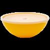 Миска с крышкой Алеана 2л, темно-желтая/прозрачный (167017)