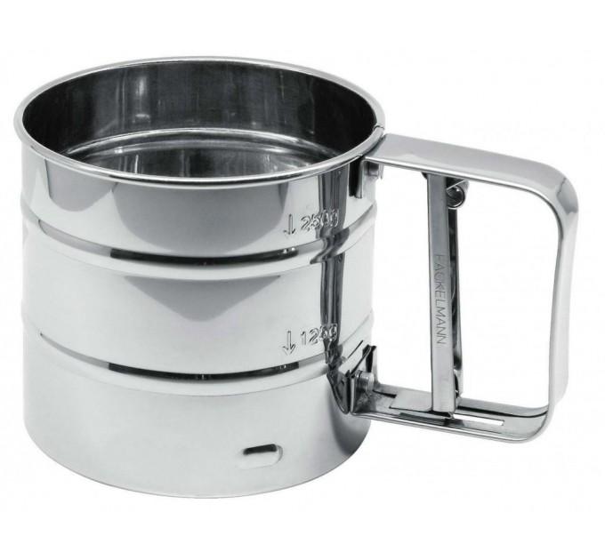 Сито-кружка для муки Fackelmann D10.5 см, сталь (42973) - фото № 1