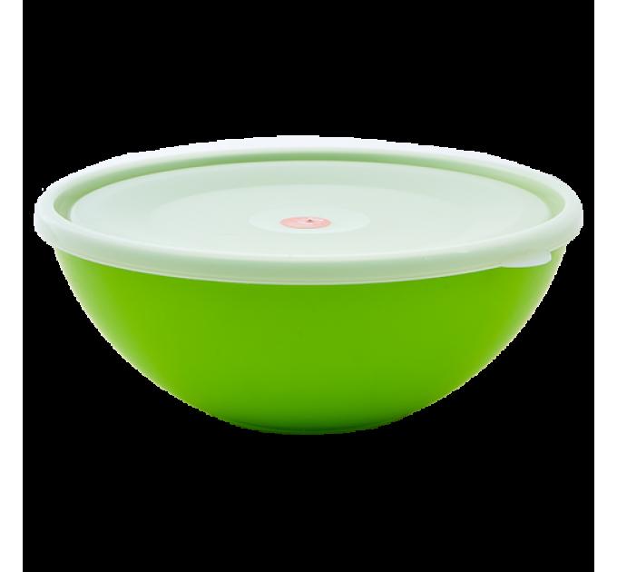 Миска с крышкой Алеана 0.8л, оливковый/прозрачный (167016) - фото № 1