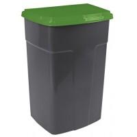 Бак мусорный Алеана 90л, темно-серый/зеленый (122062)