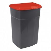 Бак мусорный Алеана 90л, темно-серый/красный (122062)