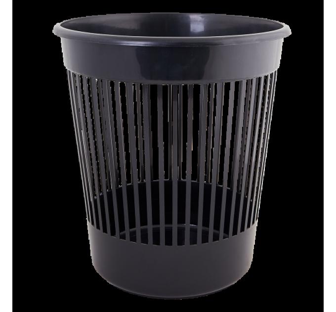 Корзина для бумаги Алеана 12л, черный (122052) - фото № 1
