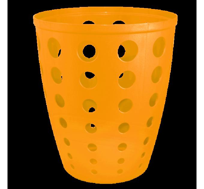 Корзина для бумаги Алеана Евро 13.5л, светло оранжевый (122055) - фото № 1