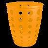 Корзина для бумаги Алеана Евро 13.5л, светло оранжевый (122055)